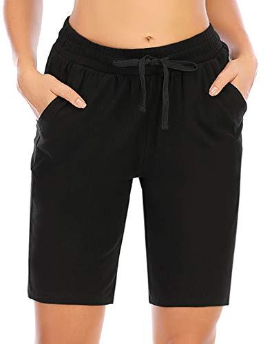 COOrun Pantalones cortos de deporte para mujer, bermudas, verano, para correr, con cordón, con...*