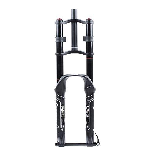 CWGHH DH Horquilla de suspensión de Bicicleta 26/27,5/29'Doble Hombro Hidráulico Rappel Freno de Disco de amortiguación Aleación de magnesio MTB/Am/FR Viaje 130mm