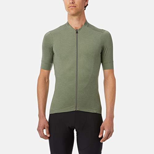 Giro Camiseta Unisex New Road para Hombre, Unisex, Jersey SS, Oliva Heather, XL