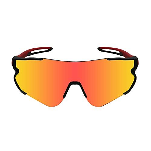 Funní Día Gafas de sol para Mujer Hombre, Lente Polarizadas con Marco TR90, Gafas de Ciclismo para Adulto FD548-2
