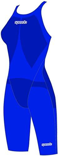 Speedo Fastskin LZR Racer Element Openback Kneeskin Bañador, Mujer, Beautiful Blue/White, 24