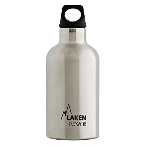 Laken Futura Botella Térmica de Acero Inoxidable 18/8 y Aislamiento de Vacío con Doble Pared, Plateado, 500 ml