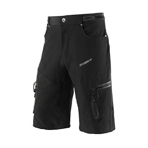 BERGRISAR - Pantalones cortos de ciclismo para hombre, ideales para MTB y bicicletas de montaña,...*
