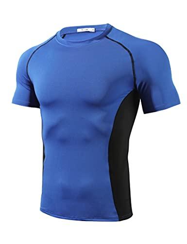 Wayleb Camisetas Manga Corta Hombre Verano Compresión Camiseta Fútbol Deporte Secado Rápido...*