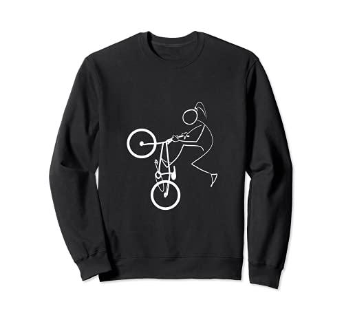 BMX Street Bicycle Ride Lover Ciclismo Minimalista Sudadera