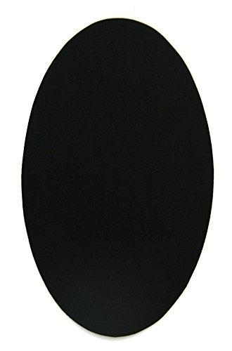 6 rodilleras color Negro termoadhesivas de plancha. Coderas para proteger tu ropa y reparación de pantalones, chaquetas, jerseys, camisas. 16 x 10 cm. RP7