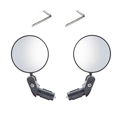 2 Piezas Espejo Retrovisor, Retrovisor Bicicleta, Espejo Bicicleta, para Todo Tipo de Bicicletas,...*