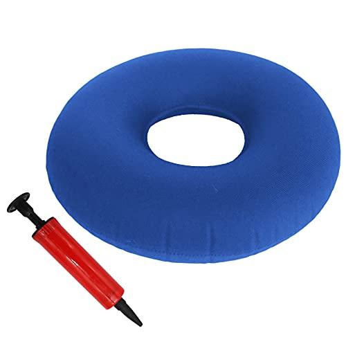 TUAKIMCE Cojín Circular Inflable con Bomba y Bolsa de Viaje - Flotador Hemorroides Diámetro 38 cm...*