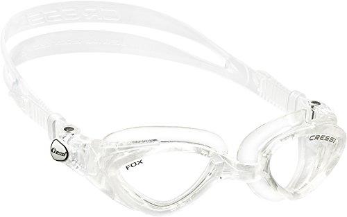 Cressi Premium Gafas de Natación para Adulto, Fox, Transparente/Lentes Claros*