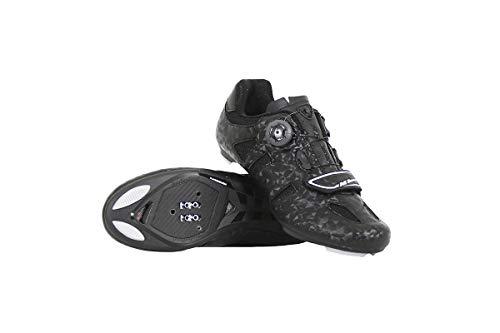 Massi ENIO Zapatillas de Ciclismo Carretera, Deportes y Aire Libre, Negro, 44