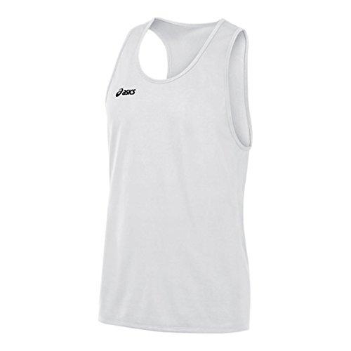ASICS Camiseta sin Mangas Rival II para Hombre, Hombre, Camiseta sin Mangas, TF3085, Blanco, XL