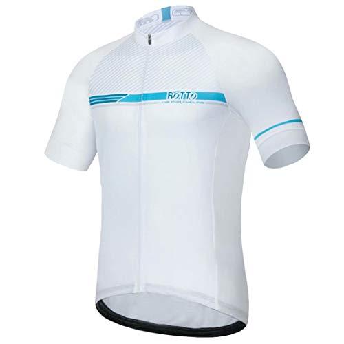 ROTTO Maillot Ciclismo Hombre Camiseta Ciclismo Manga Corta Maillot MTB Serie de línea Simple*