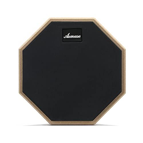 Asmuse Drum Practice Pad 8Pulgadas Pad Practica Bateria para Almohadilla de Percusion Aprendizaje de Batería Transporte para Entrenamiento-Gris