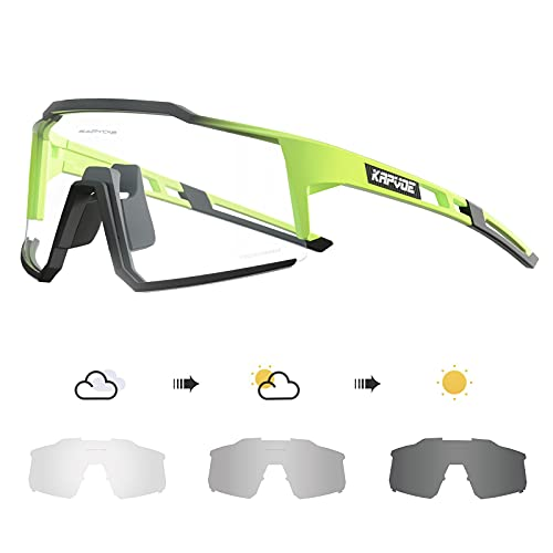 KAPVOE Gafas de Ciclismo Fotocromáticas con TR90 Gafas de Sol Deportivas Mujeres Hombres Running Transparente MTB Bicicleta Accesorios 07