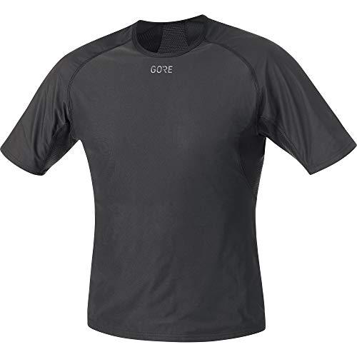 GORE Wear Camiseta interior cortavientos de hombre, L, Negro, 100024