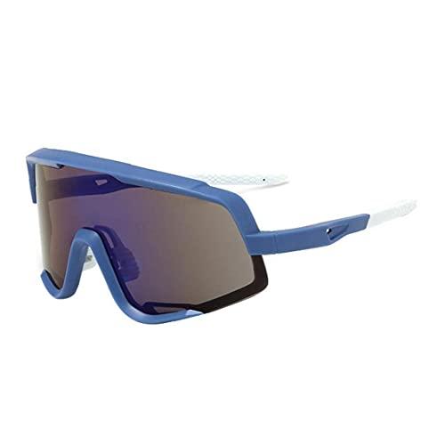 Gafas De Sol Deportivas Polarizadas Protección Uv400, Gafas De Sol De Ciclismo con 3 Lentes Intercambiables, Gafas Protectoras De Ojos Al Aire Libre con Marco Superlight para Ciclismo Azul