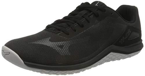Mizuno TF-02, Walking Shoe Hombre, Black/Phantom/Lime Punch, 44 EU