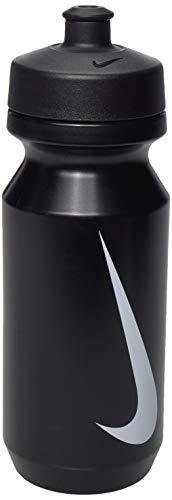 NIKE NB221 Botella de Bebidas, Unisex-Adult, Negro/Blanco, 22oz*