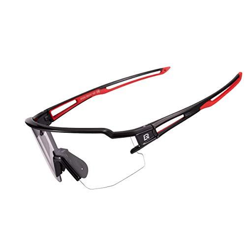 ROCKBROS Gafas de Sol Fotocromáticas Transparentes para Bicicleta Ciclismo Running Deportes al Aire...*