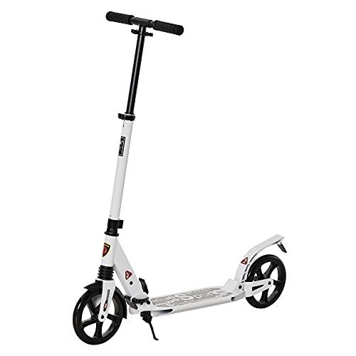 HOMCOM Patinete Plegable Scooter con Manillar Altura Ajustable Patinete para Adultos y Niños (más...*