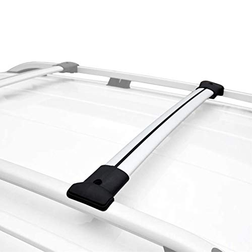 RE&AR Tuning Para Peugeot Rifter 2019-2020 Barras de techo Aluminio Gris