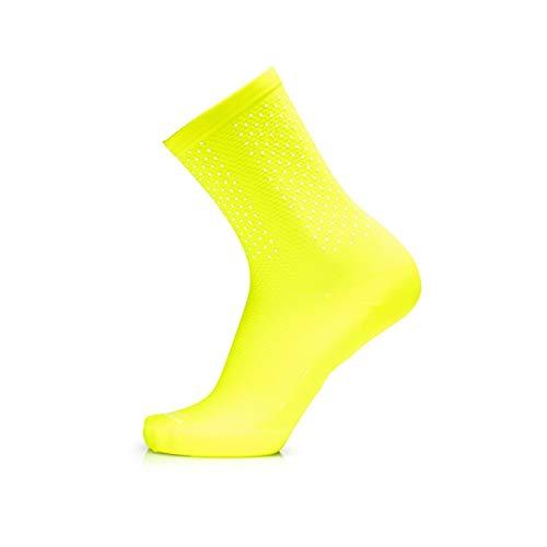MB WEAR Socks Reflective Yellow Fluo L/XL Calcetines, Hombre, Amarillo, ESTANDAR
