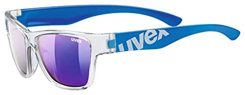 Uvex Sportstyle 508 Gafas Deportivas, Niños, Transparente/Azul, Talla Única
