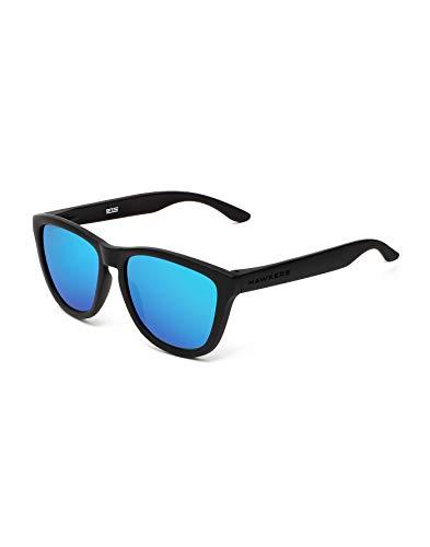 HAWKERS Gafas de Sol, Negro/Azul eléctrico, One Size Unisex Adulto