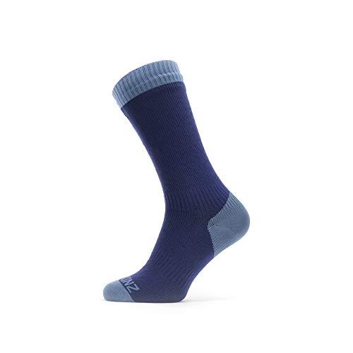 Seal Skinz Waterproof Warm Weather Mid Length Sock Calcetines unisex para adultos, azul marino, M