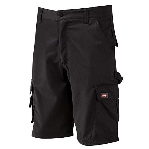 Lee Cooper ropa de trabajo LCSHO806 Classic Multi bolsillo cargo de Altas Prestaciones Fácil Cuidado trabajo ropa de trabajo pantalones cortos, Negro, Cintura, 30w