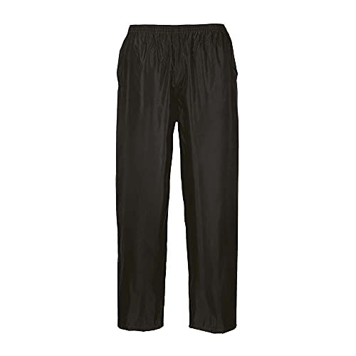 Portwest Pantalones para lluvia Classic Unisex, Color: Negro, Talla: M, S441BKRM*