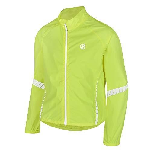 Dare2b Cordial - Chaqueta Técnica De Ciclismo, Impermeable Y Transpirable, Con Costuras Selladas Y Detalles Reflectantes Jackets Waterproof Shell, Niños, Fluro Yellow, 11-12