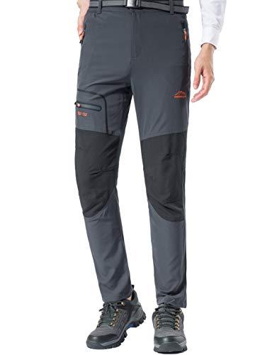 BenBoy Pantalon Montaña Hombre Secado Rápido Impermeable Pantalones Trekking Escalada Senderismo...*