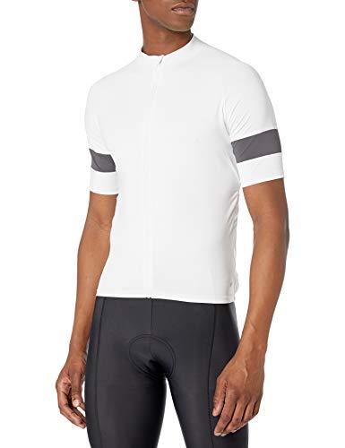 Amazon Essentials Camiseta de Ciclismo de Manga Corta Camisa, Blanco, S