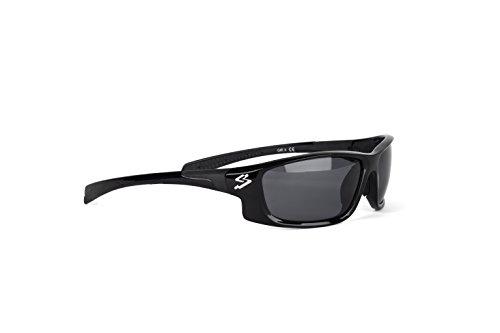 Spiuk Spicy - Gafas de Ciclismo Unisex, Color Negro Mate/Negro