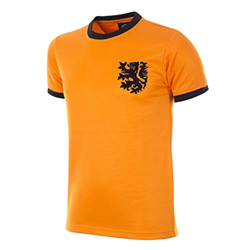 Copa Camiseta de fútbol Retro Mundo de Holanda de 1978 para Hombre, Hombre, Camiseta de Cuello Redondo Retro de fútbol, 182, Naranja, M