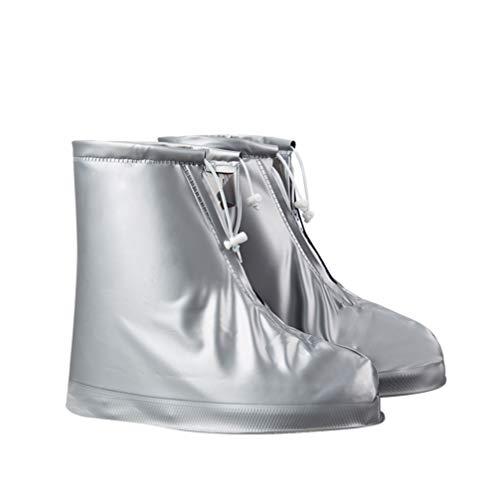 Garneck Cubrezapatillas Impermeables Cubrezapatos Antideslizantes Antideslizantes Cubiertas para Botas de Lluvia Botas Protectores Protectores Cubrezapatillas Resistente Al Agua (XXL)