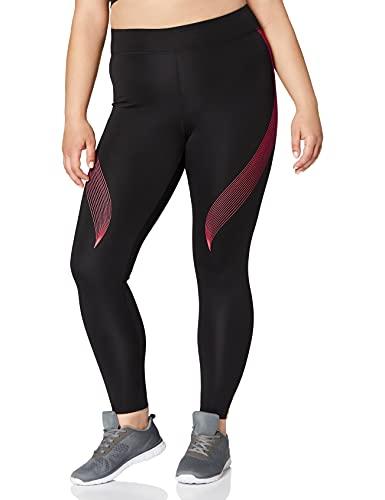 Marca Amazon - AURIQUE Bal181la18 - leggings deporte mujer Mujer, Negro (Black/love Potion), 36,...*