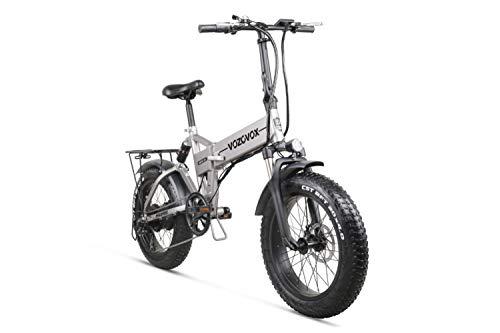 VOZCVOX Bicicleta de montaña eléctrica 26 Pulgadas Rueda Plegable Ebike500W 48V 12.8AH Suspensión Completa Ebike,City para Adultos/Hombres/Mujeres