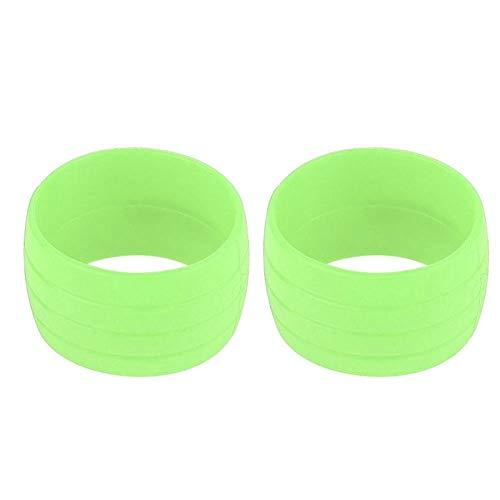 Robusto cable protector de fijación de la manga de sujeción anillo de desgaste duradera bicicleta de carretera parte del manillar de la bicicleta para deportes escolares para montar en(green)