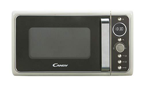 Candy, Divo G20CC, Microondas con grill 20l, 1200W, 9 programas, Express cooking, Temporizador, Display digital circular, 6 niveles de potencia, Color crema