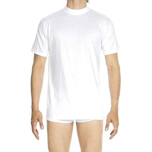 HOM - Para Hombres - Camiseta con Cuello Redondo 'Harro New' - T-Shirt - White Light Combination - Tamaño L