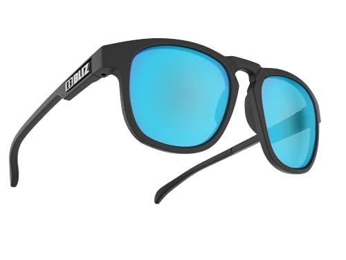Bliz Ace' 54907-14 - Gafas de Sol Deportivas Unisex, Color Negro con Lente Azul Ahumado, Regular