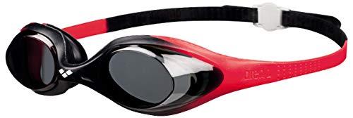 Arena Spider Jr Gafas de Natación, Unisex niños, Rojo/Negro (Smoke), Universal