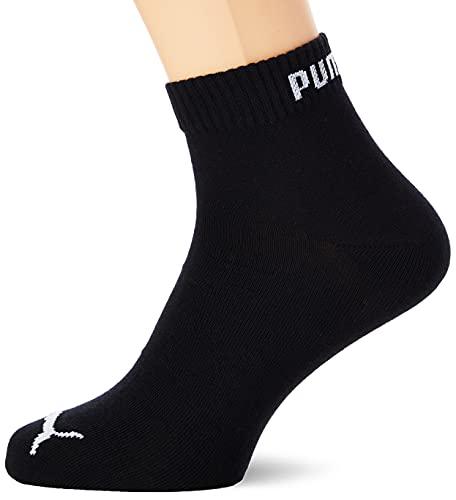 Puma Quarter 3P - Calcetines de deporte para hombre, color negro, talla 43-46 (3 pares)