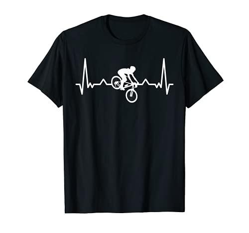 Mi corazón late por el descenso de la bicicleta de montaña Camiseta