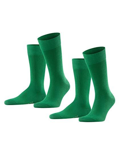 Falke Happy 2-Pack M SO Calcetines, Verde (Golf 7408), 39-42 (Pack de 2) para Hombre