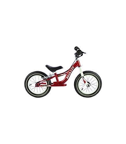 Grupo K-2 Bicicleta Sin Pedales De Equilibrio para Niños con Cuadro de Acero Resistente y con Freno Trasero y Manillar Ergonómico | Rueda de 12' | para Niños de 2 a 5 Años | Rojo