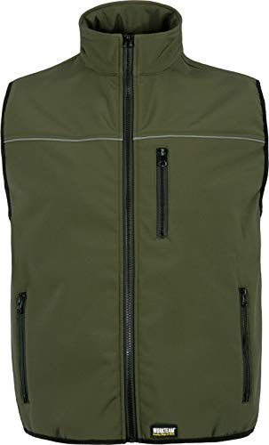 Work Team Chaleco Softshell Aire Libre Liso Hombre Verde Caza L