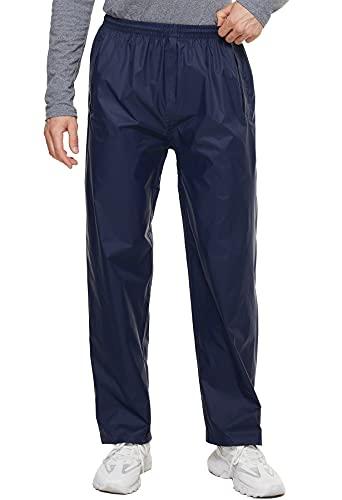 BenBoy Pantalones Impermeables Hombre Transpirable Pantalones de Lluvia para Resistentes al Viento Ligero Trekking Escalada Senderismo,KZ5217M-Blue-M